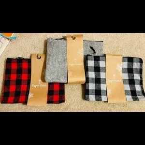 Wool Zipper Pouch Bundle